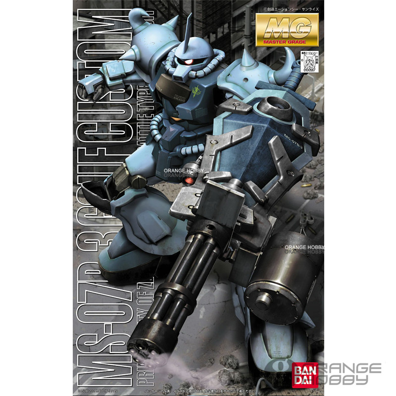 Bandai MG 1/100 MS-07B-3 Gouf Custom Mobile Suit Assembly Model Kits daban 1 100 mg wing zero ew endless waltz xxxg 00w0 assembly model kit mobile suit not included display stand