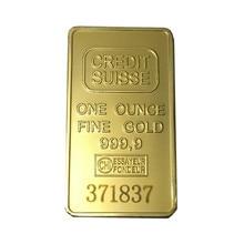 50pcs/lot free shipping Credit suisse Surelife laser number 1oz.24k gold plated Art Nouveau bullion Bar gold coin free shipping 50pcs lot kse13009f2 e13009f2 13009 free shipping