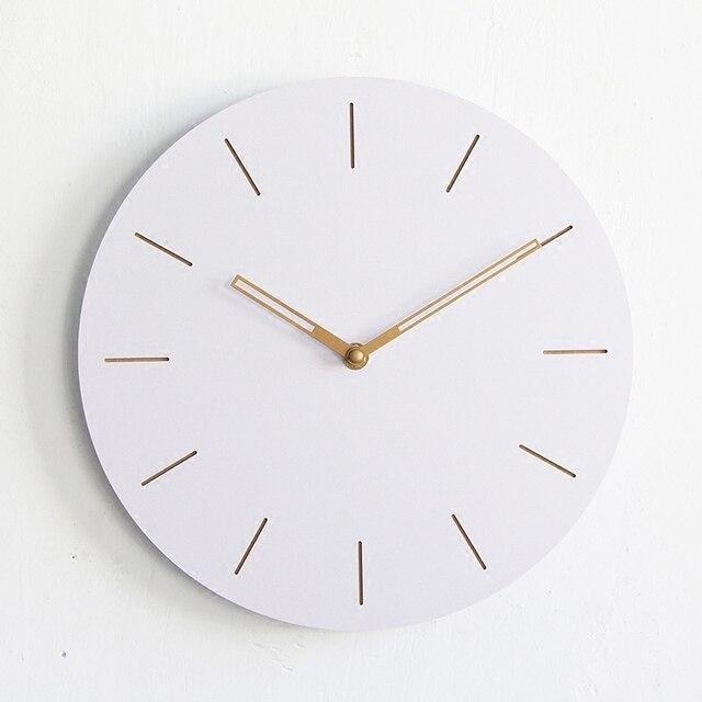 Reloj de pared decorativo grande Digital de madera redondo de 12 ...