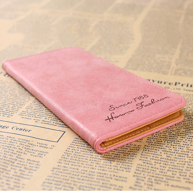 Minimalist Designer Slim Long Bifold Women Wallet Female Clutch Leather Brand Coin Purse Ladies Card Holder Money Dollar Cuzdan 1