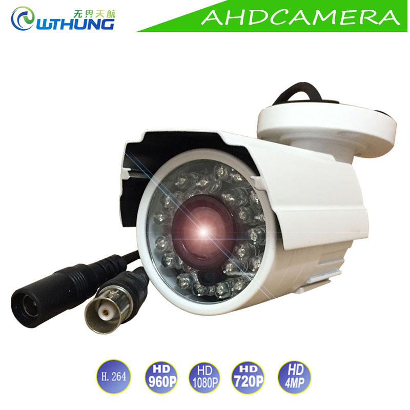 CCTV AHD Camera Metal Case 1.0MP 1.3MP 2MP 4MP Mini Bullet Indoor/Outdoor Waterproof IR Cut filter Night Vision For Security Cam outdoor waterproof white metal case 1080p bullet poe ip camera with ir led for day