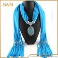 Rhinestone moda bufanda de joyas joyería