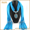 fashion rhinestone pendant jeweled scarf jewelry