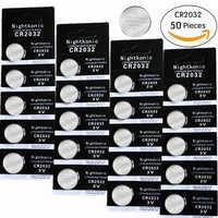 Originale 50 pz/lotto 2032 batteria 3V Al Litio Batterie BR2032 DL2032 ECR2032 CR2032 del Tasto Della Batteria