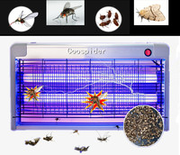 Efficient Electronic Insect Killer Trap Buzz UV Lamp Bug Zapper Mosquitoes Moth Fly Mouches Wasp Beetle Pest 20W 30W indoor