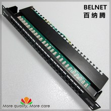 25-ports telephone voice patch panel telecommunication engineering grade 19-inch 1U PCB type RJ11 patch panel distribution frame
