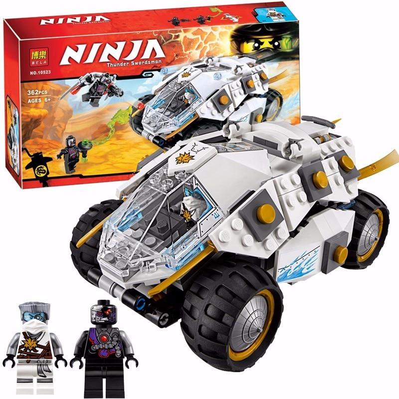 Bela 10523 Ninjagoe Titanium Ninja Tumbler Blocks Brick Toys Set Boy Game Compatible with