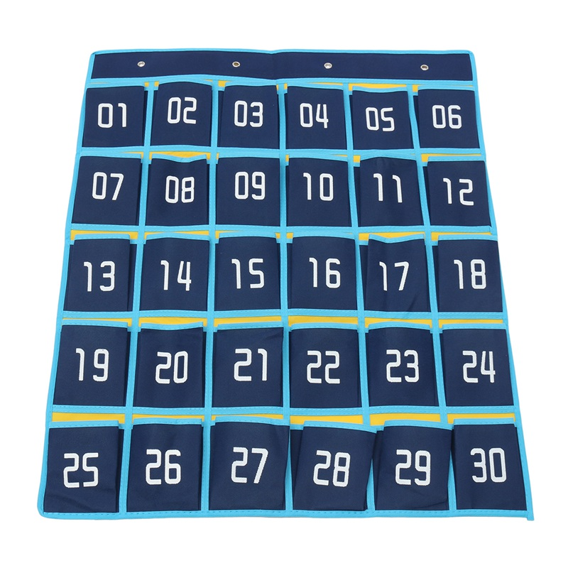 Pockets Numbered Classroom Cell Phones Organizer Chart Calculator ...