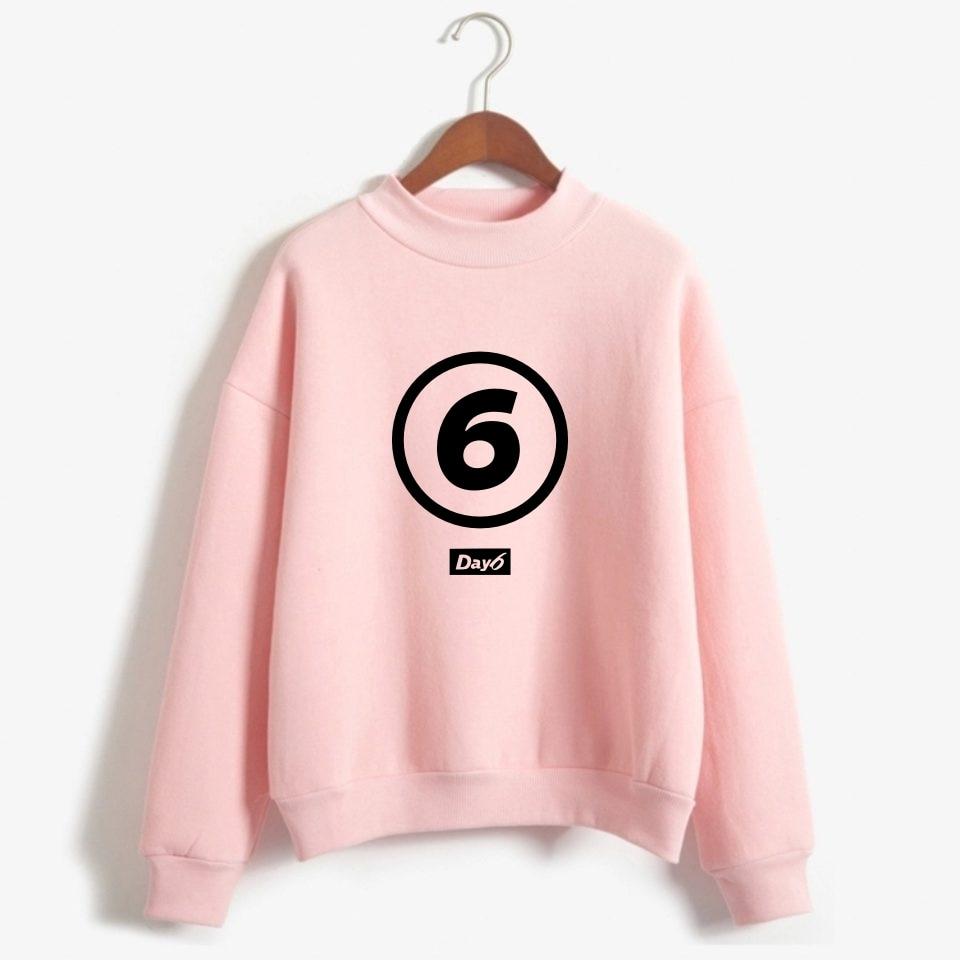 Day6 Turtleneck Hoodies Sweatshirts Member Name Printed Pullover Long Sleeve Hoodie Sweatshirt Kpop Tracksuit Oversize Clothes