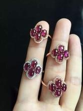 Подарок для молодой пары 20% скидка доступным 925 siliver 100% Натуральный фиолетовый гранат кольцо изящных ювелирных изделий