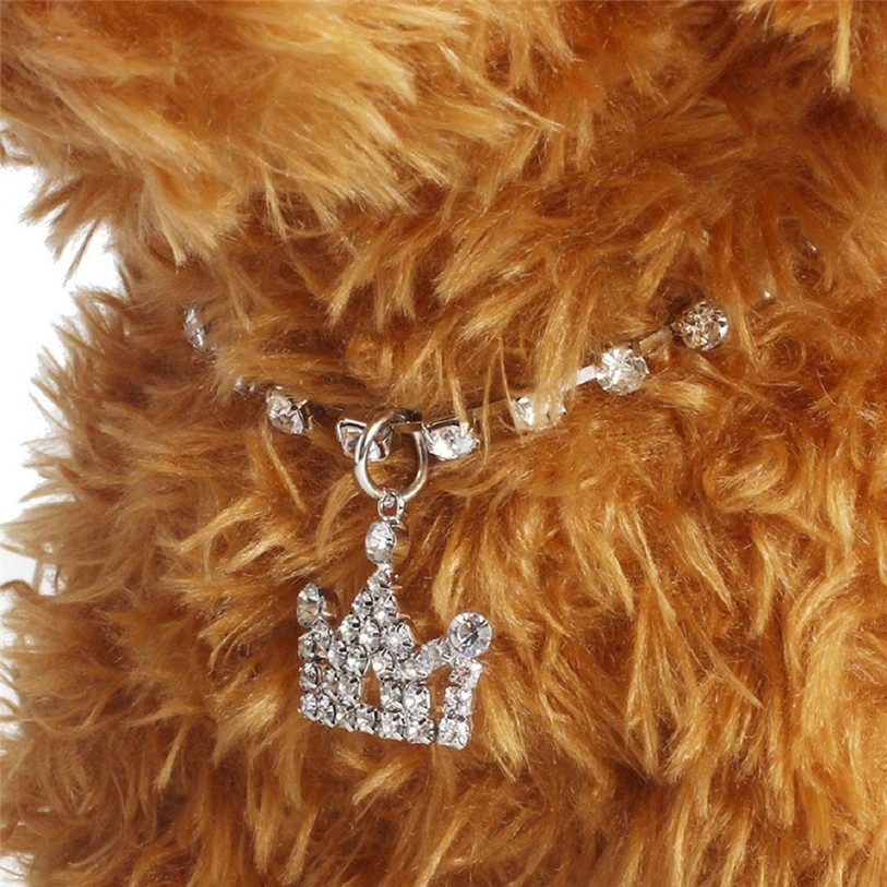 Bling Full Rhinestone Alloy Dog Necklace Collar Pendant for Pet Puppy Small Dogs Cats Party Decor Dress Up Pet Supplies 40JA22 (12)