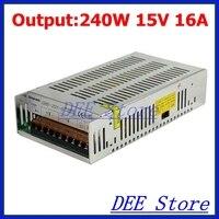 240W 15V(13.5V~16.5V) 16A Single Output Adjustable Switching power supply unit for LED Strip light Universal AC-DC Converter