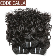 Code Calla Water Wave Peruvian 100% Unprocessed Raw Virgin Human Hair Natural color bundles Salon Hair For Women Free shipping(China)