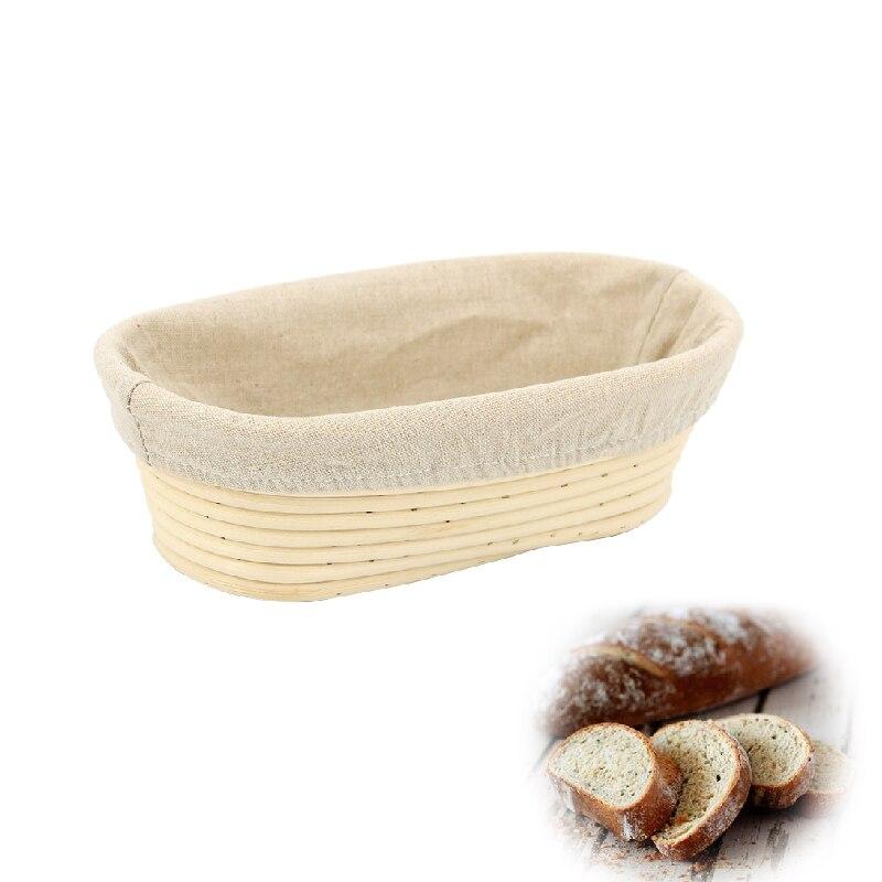 1 ensemble ovale panier à pain épreuve panier tissu doublure pain Lame paniers pour la maison boulangers Artisan pain faisant cuisine outil de cuisson