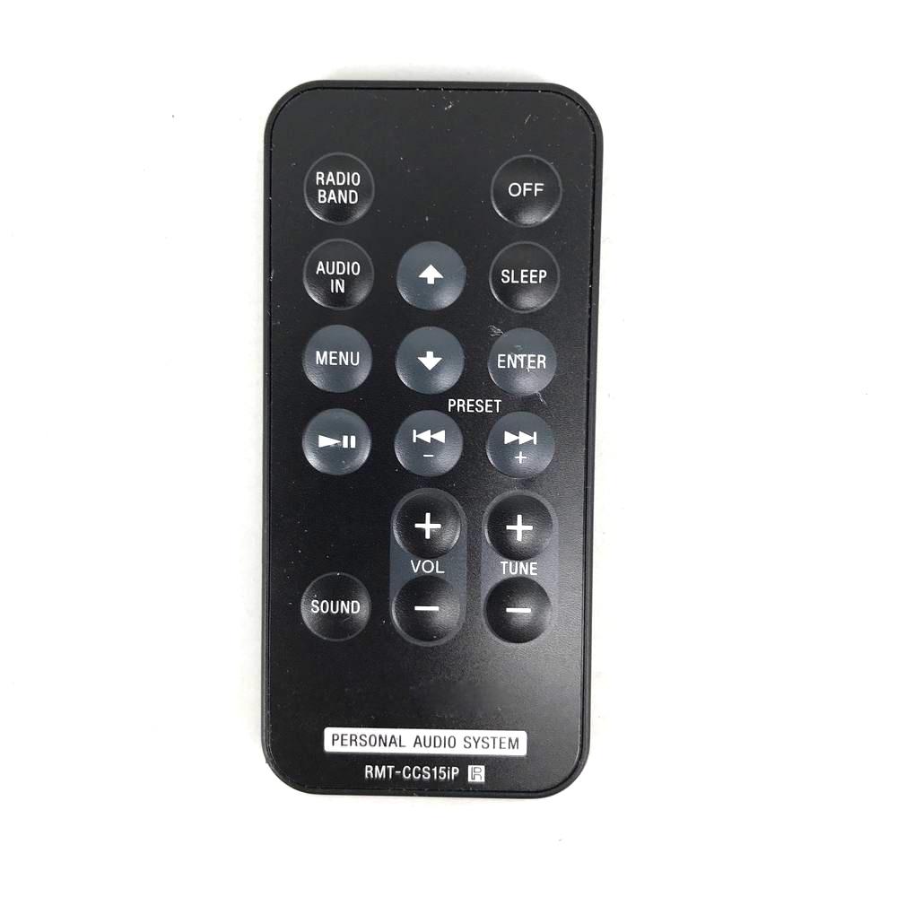 Used Original RMT-CCS15iP For Sony Personal Audio System Genuine Remote Control ICF-CS15iP ICF-CS15iPN ICF-DS15iPN Fernbedienung