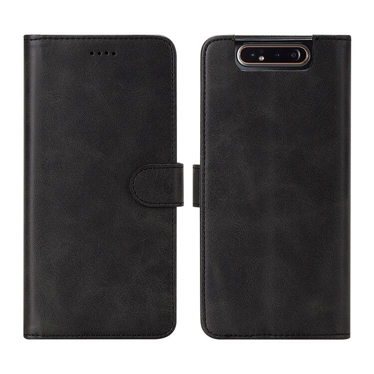 Luxe flip portemonnee telefoonhoes voor Samsung Galaxy A80 schokbestendige telefoonhoes Leren beschermhoes voor Samsung Galaxy A80