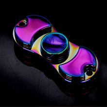 New Exquisitely Gift Iron Box Packaged Muti color Fidget Spinner Metal Hand Spinner Cool Stress Wheel
