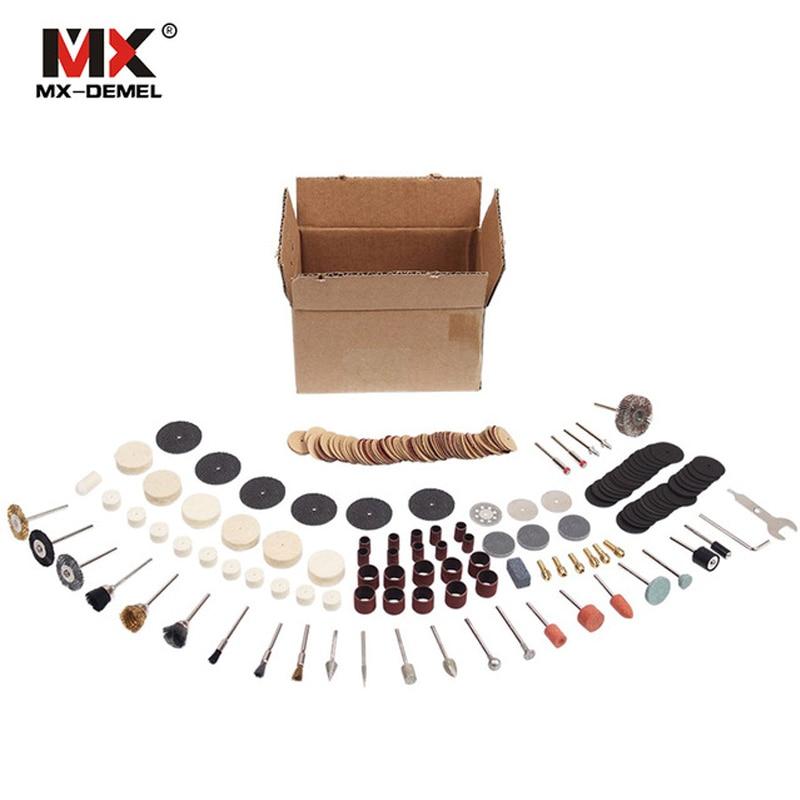 MX-DEMEL 264 pz/set per Dremel Rotary Accessori Strumenti Set Adatto per Dremel Drill Grinding Lucidatura Accessori Dremel