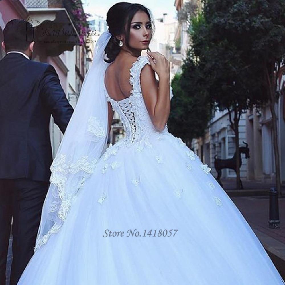 723d3c6240 Vestido de Noiva Plus rozmiar arabski młodej suknie 2017 koronkowe suknie  ślubne zroszony zamek luksusowa suknia ślubna turcji Robe de Mariee w  Vestido de ...