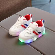 Новые весенние детские для мальчиков и девочек жидкокристаллический легкая повседневная обувь для младенцев мягкая подошва в полоску спортивная обувь для детей уличные кроссовки