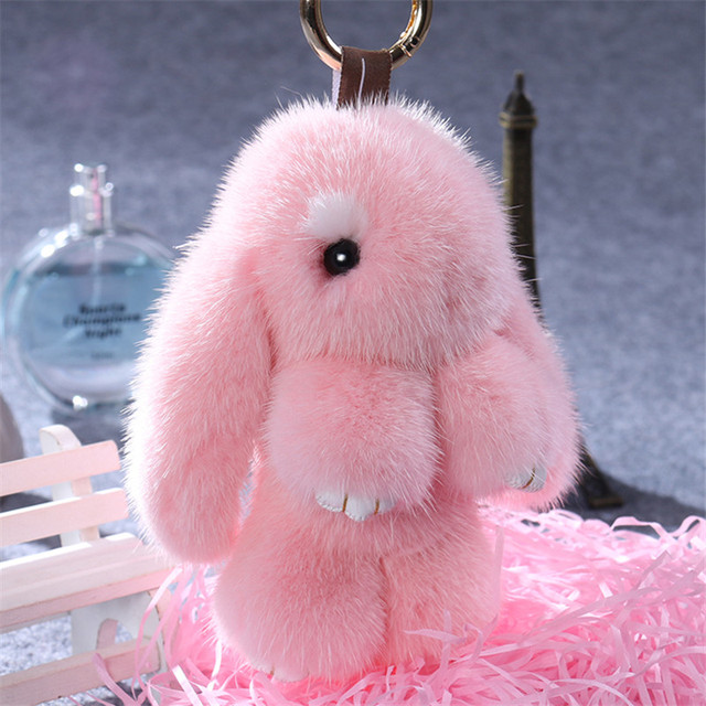 Mink hair dead rabbit fur pendant pendant Bunny Rabbit Keychain hanging ornament Meng