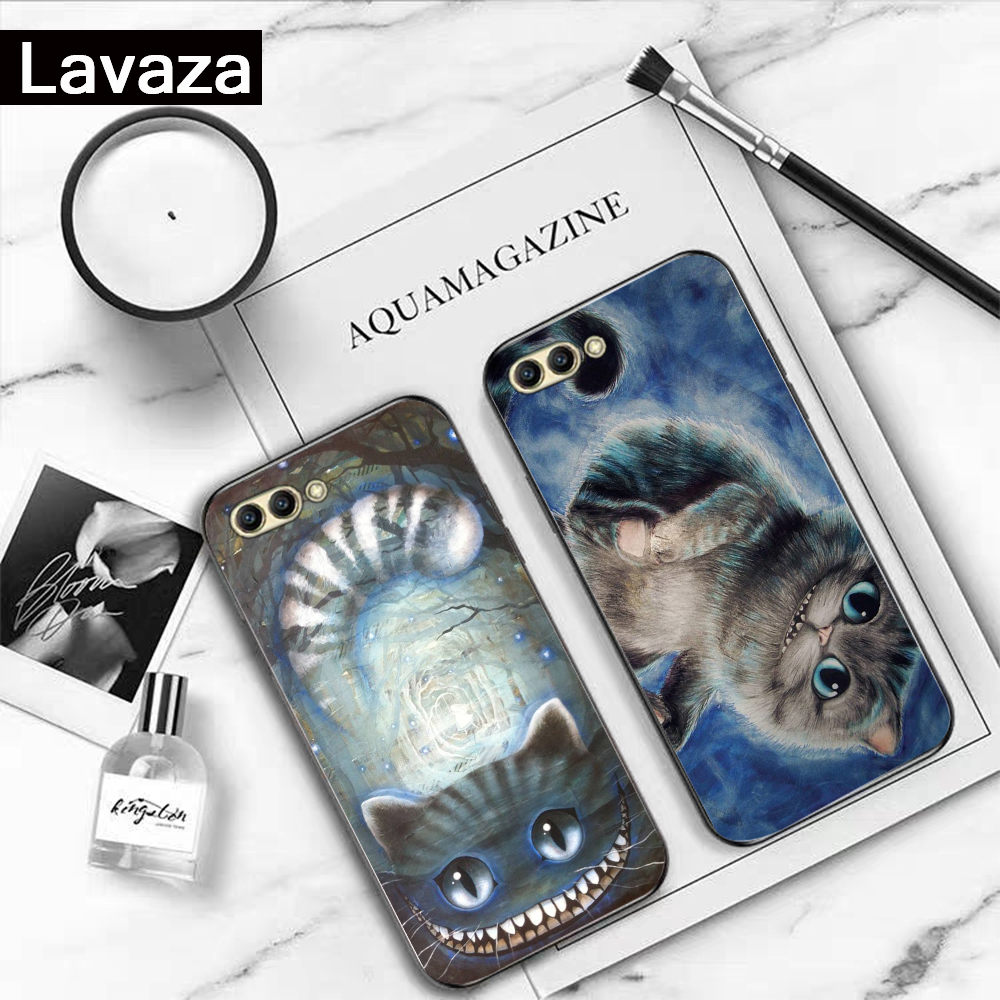 Lavaza Alice in Wonderland Cheshire Silicone Case for Huawei Honor 6A 7A 3GB Pro 7X 8 Lite 8X 8C 9 Note 10View 20 9X in Fitted Cases from Cellphones Telecommunications