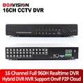 Новый 16-канальный Полный 960 H D1 ВИДЕОНАБЛЮДЕНИЯ DVR в Режиме Реального времени Воспроизведения Записи С HDMI 1080 P Выход DVR 16 Каналов Hybrid DVR NVR Onvif P2P Облако
