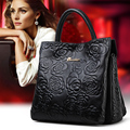 100% genuine leather bag embossed Tote famous brands bolsas women leather Handbags designer High quality shoulder messenger bags