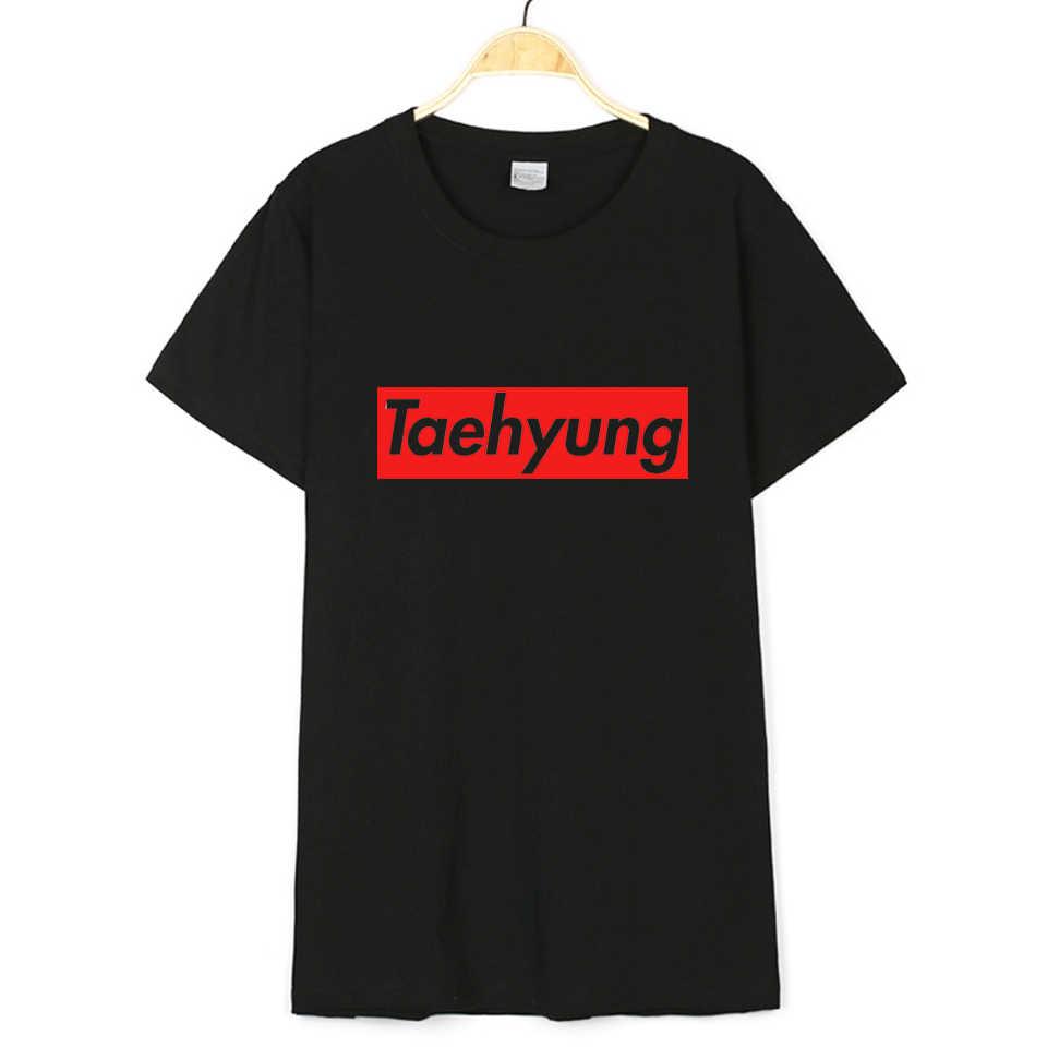 Горячая Мужская Футболка Kpop 2019 Bangtan мальчики футболка JUNG KOOK с изображением чимина и шуги V K-pop женщины JIN Rap Monster белая хлопковая футболка