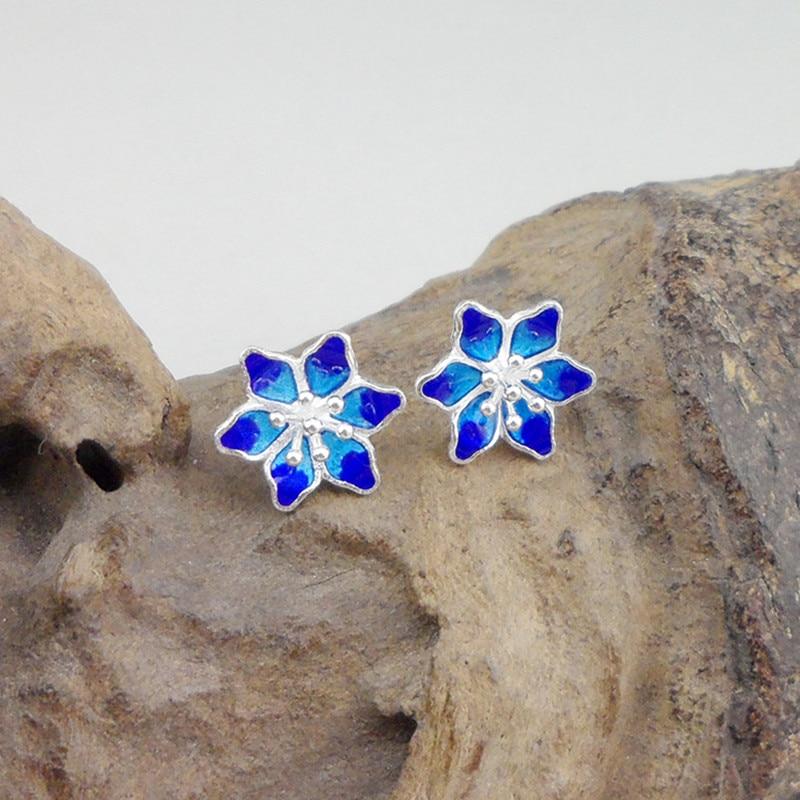 Guizhou handmade Miao 925 Sterling Silver Designer Stud Earings High Quality Studs Flower Earrings 2019 Fashion Jewelry Earring