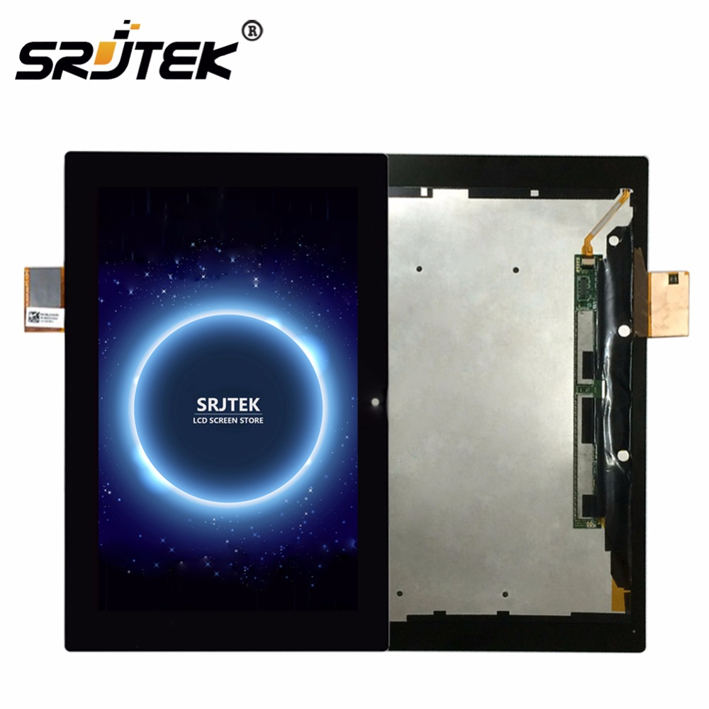 Srjtek For Sony Xperia Tablet Z 10.1 SGP311 SGP312 SGP321 LCD Display Matrix Screen Touch Panel Tablet PC Assembly with Frame lcd display screen panel touch digitizer assembly for sony xperia z4 tablet sgp771 sgp712 screen assembly free shipping