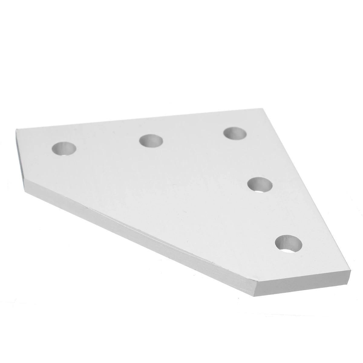 5 Hole 90 Degree Joint Board Corner Angle Bracket for 2020 Aluminum Profile DIY