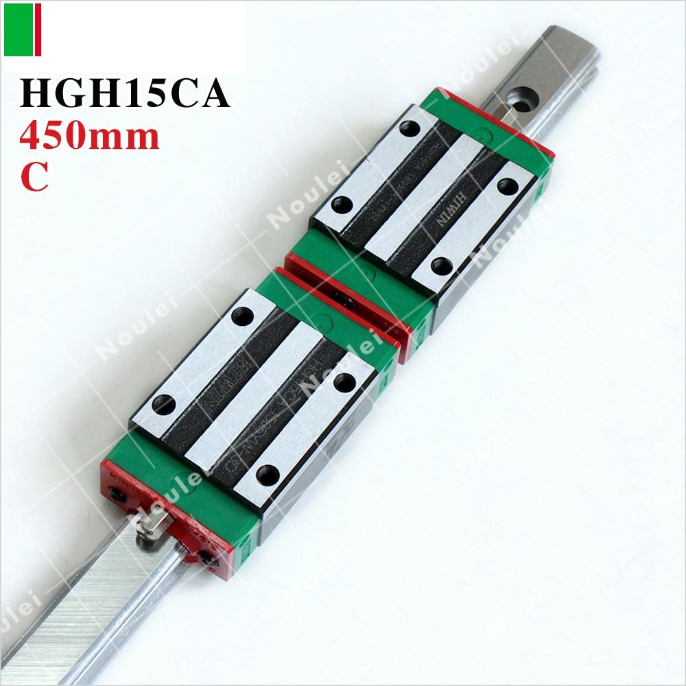 HIWIN HGH15CA slide block with HGR15 450mm linear guide rail 15mm type for CNC Parts 2pcs original hiwin linear rail hgr15 450mm with 4pcs hgw15ca flange block cnc parts page 4
