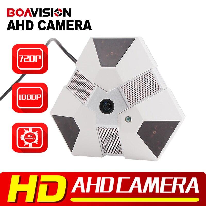 ФОТО BOAVISION 1.0MP 2.0MP Panoramic AHD Camera Fisheye Lens Indoor IR 10M, Full 360 Degree View Security CCTV AHD Camera 720P 1080P