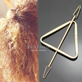 Fab Triangle Arrow Hairdo Hair Slide Ponytail Bun Holder Pin Clip Dress Stick Jewelry 2017 New