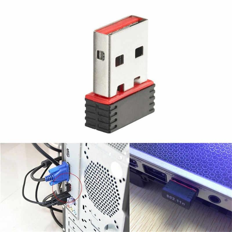 2020 Mini Usb 2.0 802.11n 150Mbps Wifi Network Adapter Voor Windows Linux Pc Praktische Accessoires Multifunctionele Dropship #0607