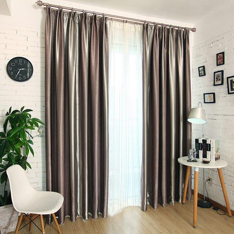 Φ_ΦEstilo Europeo persianas rayas apagón Telas ventana Cortinas