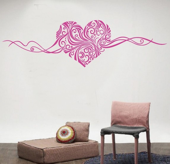 Beautiful White Black Rose Pink Brown Love Heart Soft Wall Decal Decor Decals  Bedroom Home Decor DIY Art Decals Wall Stickers  In Wall Stickers From Home  ...