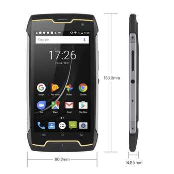 Cubot KingKong IP68 Rugged Phones 4400mAh Big Battery Waterproof Smartphone 3G Dual-SIM Android 7.0 2GB+16GB Compass+GPS MT6580