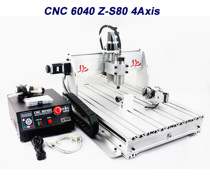 Turning lathe cnc machining 6040 cnc router 6040Z-S80 , work for wood Marble metal pcb