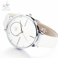 Shengke Women Watches Fashion Women Wristwatch Leather Band Luxury Brand Quartz Watch Female Wristwatch Reloj Mujer