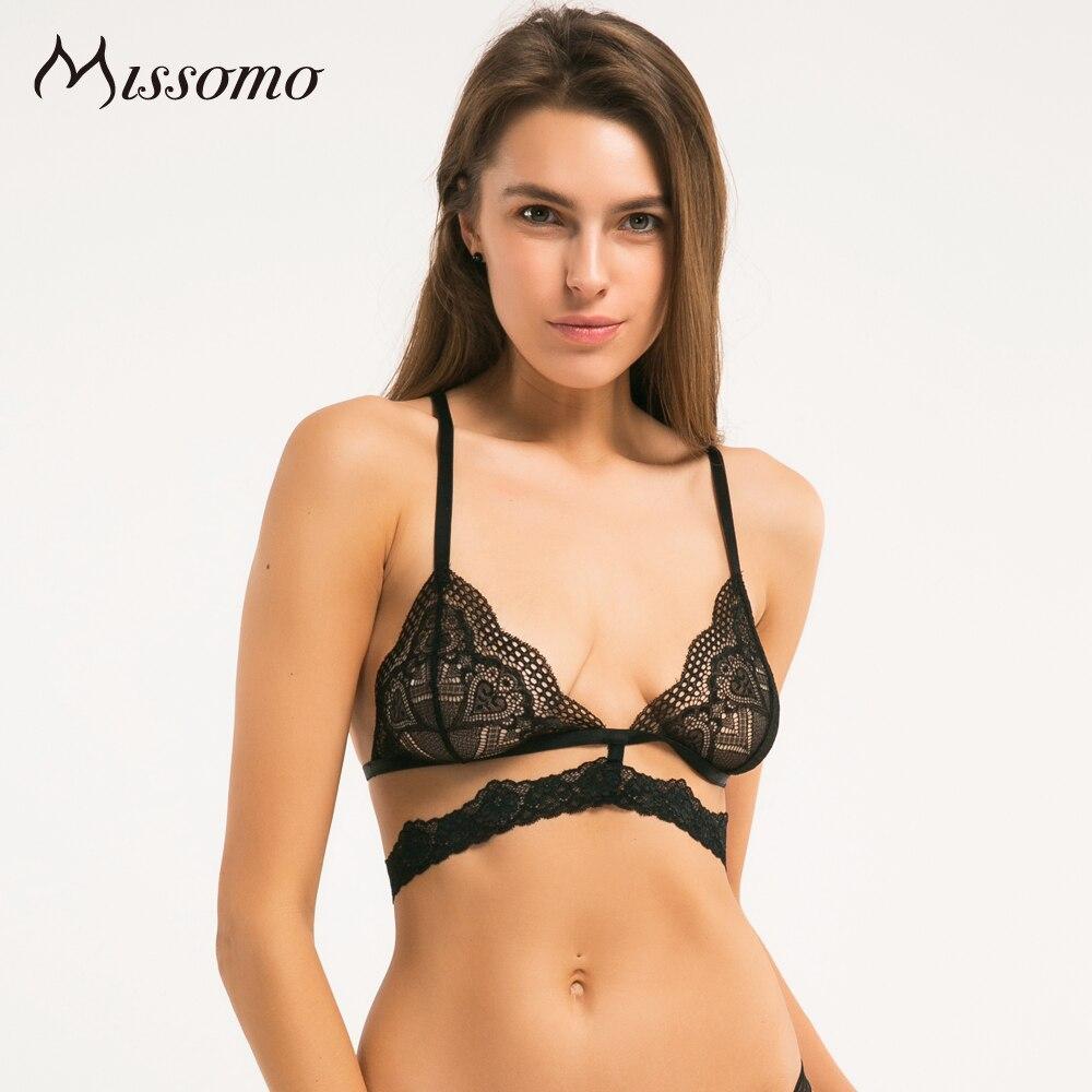 Missomo krajkové podprsenky pro ženy Sexy VS BH Bralet Modis Erotické Push Up Bralette Plus Velikost Bezdrátový pohár Podprsenka Spodní prádlo Crop Top