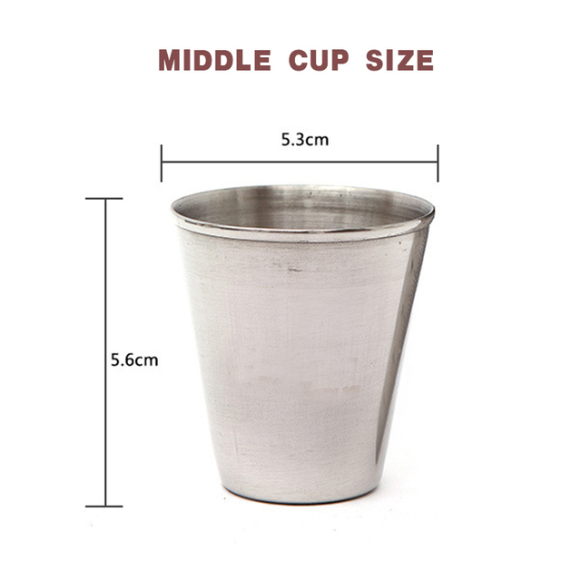 4 Stainless Steel Cups With Leather Case 3