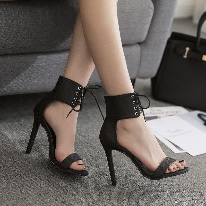 Women Sandals Pumps Thin Air Heels