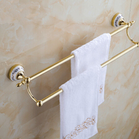 New Arrivals 24 Inch 60 Cm Towel Bar Gold Porcelain Towel Holder Wall Mounted Bathroom Accessories