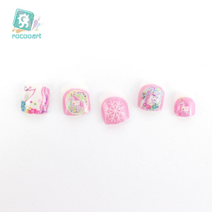 Image 5 - Pegatinas Nail Art de unicornio para niños, decoración de uñas 3D, pegatinas de Punta autoadhesivas, pegatinas de uñas de dibujos animados para niños, novedad de 2018