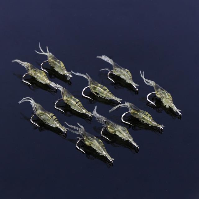 10 Pcs/Set Shrimp Simulation Lures