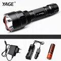 Yage cree xp-e tactical 300 m-500 m cree led tocha cree led lanterna tocha luz para 1 18650 lanterna bateria 4xrechargeable