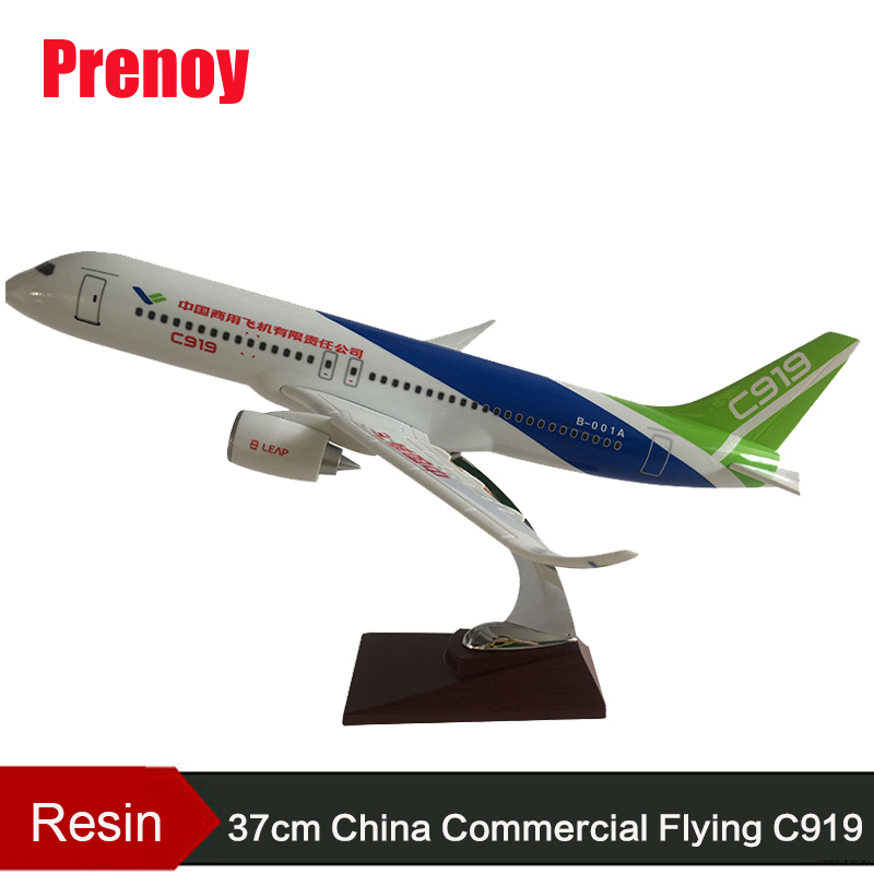 38cm Resin C919 China Commercial Aircraft Airplane Airbus Model China Commercial Flying C919 Plane Aviation Model Stand Craft hongkong agency pixel to buy aircraft commercial airline fleet planning commercial jetliners plane model hobby