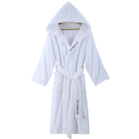 Summer cotton bathrobes men and women adult towel material cut cashmere cotton absorbent couple sleep gown pajamas